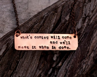 Hagrid quote // Copper necklace // Stamped by hand // Harry Potter