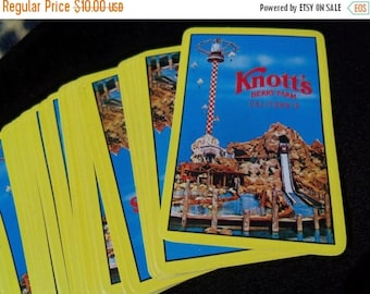 Now On Sale Vintage 1970's Knotts Berry Farm Playing Cards Advertisement Souvenier CollectibleToy Game