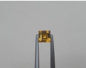 ON SALE Citrine Square Natural Loose Gem 4mm