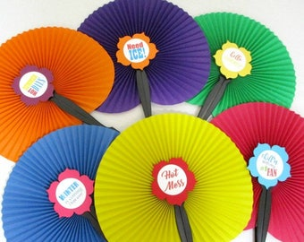 Hand Held Fans Rosettes Pinwheels Personalized Fans Wedding Fans Paper Fans Summer Party Favor Barbecue Accessories Custom Wedding Decor