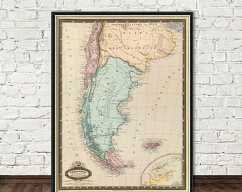 Argentina Etsy - Argentina map for sale