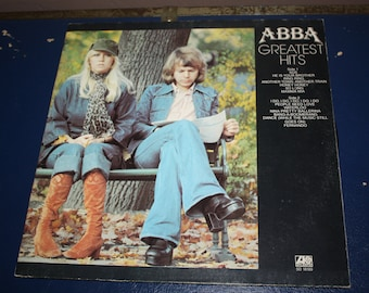 Vintage 1970s (1975) Vinyl Record Abba - Greatest Hits LP / Full Length Album