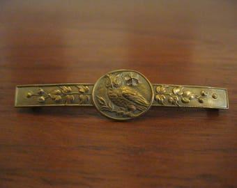 Antique brass bar pin