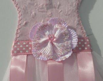 Light Pink Chenille Barrette Holder
