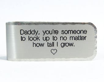 READY TO SHIP ~ Father's Day Gift / Father of the Bride Gift / Dad Gift ~ Daddy, you're someone to look up to no matter how tall I grow.