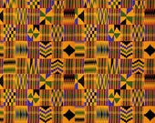Serengeti Kente Cloth Premium Patterned Vinyl Vibrant Vinyl™ - Adhesive Vinyl + Heat Transfer Vinyl, Kente Vinyl