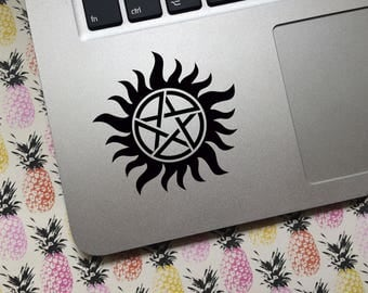 Anti-Posession vinyl decal - CHOICE of COLOR and SIZE  - Car decal, laptop decal, decoration, Supernatural-inspired, Winchesters, Crowley