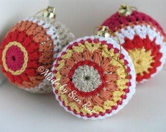 3 Crochet Christmas Baubles