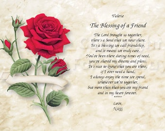 Friendship...The Blessing of a Friend..  Sentimental Print Gift 1122