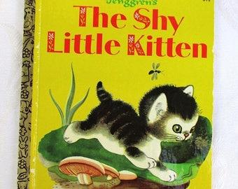 SALE 20% OFF Vintage The Shy Little Kitten, 1970s by Gustaf Tenggren