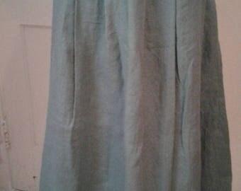 Petticoat 18th Century Style - Green Linen