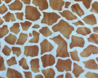 Michael Miller Giraffe print cotton fabric by the half metre