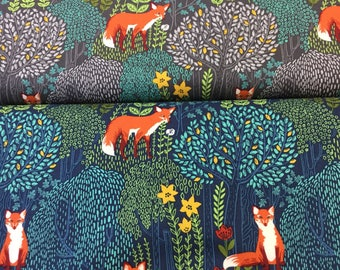 Michael Miller Into the woods cotton fabric in 2 colours by the Half Metre