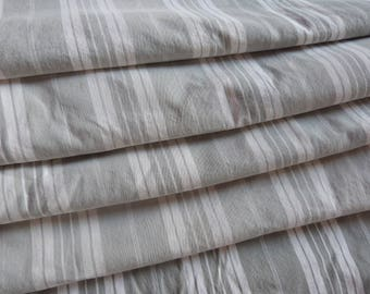Vintage French linen mattress ticking gray striped fabric gray striped linen ticking mattress case toile sewing supply textile fabric