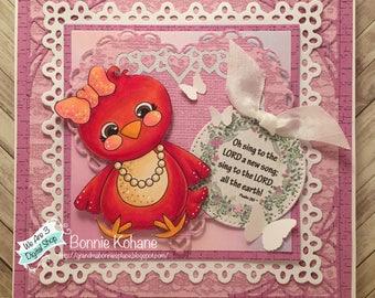 WeAre3 A New Song Bird Handmade Card