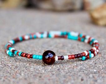 Southwestern, Wrap Bangle Bracelet, Wrap Bracelet, Wrap Boho Bracelet, Yoga Wrap Bracelet, Southwestern Style Beads, Wrap Bangle Bracelet