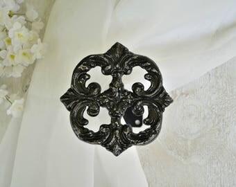 Curtain Tie Back, Drape holder, Drape Tieback, Cast Iron,Curtain Hardware Ornate