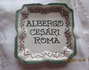 italian souvenier hotel ashtray-