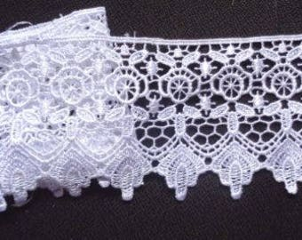 "3.5""  White Venice Lace Trim - Venise Lace selling by the yard"