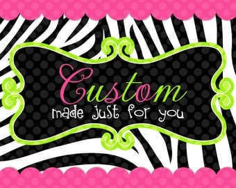 Custom Order for Megan:  Payment 2 and 3