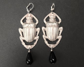 Large Scarab Earrings