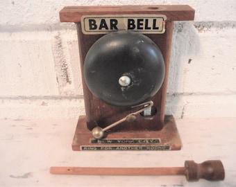 Vintage bar bell ,new york city souvenir ,ring for drinks,novelty bar decor, vintage bar