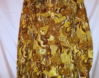 BIG SUMMER SALE 70s Vintage Mod Blouse-Alan Rodin London West One-Biba Designer-Collectors-Man Tailored-Lace Print-