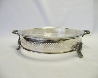 Silverplate Pie Server Dish - Serving Pie Plate Dish - Christmas Thanksgiving Wedding Decor, Home Decor, Holiday Server