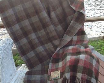 Vintage Scottish Border Wool Throw / Edgar off Edinburgh Exclusive Tweeds Throw