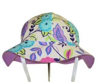 Baby Sun Hat, Toddler Sun Hat, Baby Girl Sun Hat, Cotton Hat, Summer Hat, Wide Brim Hat, Floppy Beach Hat, Floral Sun Hat, Infant Hat