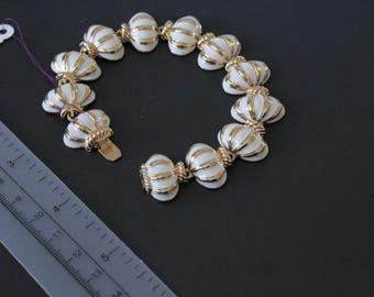 Joan Rivers Classics Collection White  Enamel  Bracelet #1046