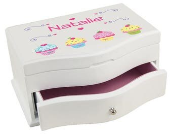 Personalized Cupcake Princess Jewelry Box Baking Little Bakersweet Treats Confection jewef-318