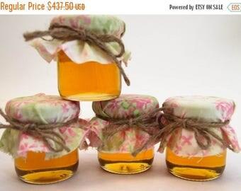 SALE 15% Off Ends Sunday Golden Honey Wedding Favors, Bridal Shower, Anniversary, Wild Flower Reception, Wedding Gift, Jar Honey Favor,