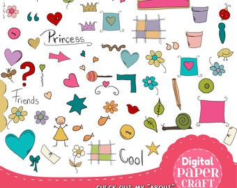 Icon Clipart, Small graphics, Decorations, Accent Clipart, Journal Clipart, Planner Clipart, School Clipart, Diary Clipart, Scrapbook