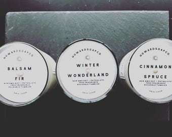 WINTER WISHES >> handpoured soy candle/phthalate free/minnesotamade