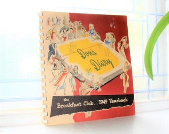 Don's Diary The Breakfast Club 1949 Yearbook Vintage Book