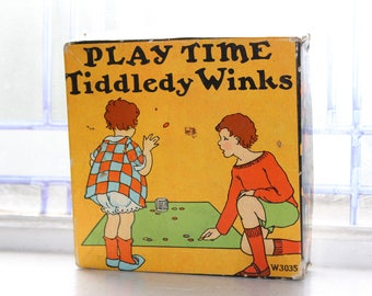 Antique Play Time Tiddledy Winks Game Toy 1910s