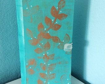 Aqua Art Journal Nature Journal Blank book Recycled Journal Mixed Media Upcycled Journal Handmade Journal Handmade Book Sketchbook