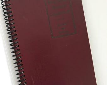 Vintage schoolbook RED Spanish Grammar Journal Diary Recycled