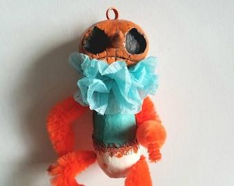 Orange pumpkin ornament