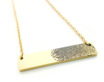 Fingerprint Necklace- Fingerprint Jewelry - Memorial Necklace - Memorial Jewelry - Thumbprint Necklace - Remembrance Jewelry - Memorial Gift