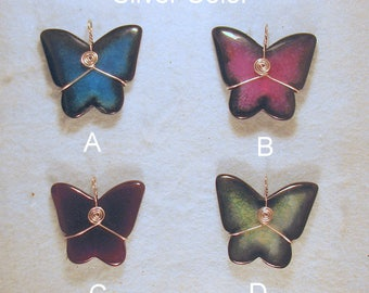 Wire Wrapped Agate Butterfly Protection Jewelry Pendants