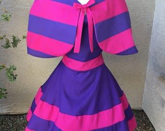 Cheshire Cat costume apron dress