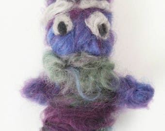 Needle Felted Doll, Old man, felted toy