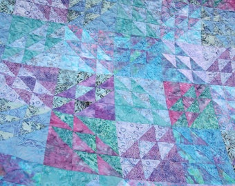 Fantasy, Batik Patchwork Quilt, Queen / King Size Handmade by PingWynny