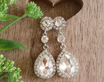 BRIDAL EARRINGS | Ideal for Your Wedding, Bridesmaid Gift, Party Earrings, Bridal Earrings