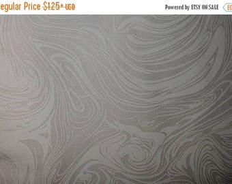 ON SALE Swirl, Floral Fabric, White, Tone on Tone, White Floral Fabric, White Floral Fabric, 01171A