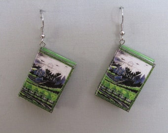 Miniature book earrings, Hobbit