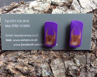 Highland cow studs - polymer clay studs - Scottish jewellery