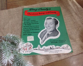 Bing Crosby's Christmas Songs and Carols 9 Pieces Complied and Arranged by William Stickles